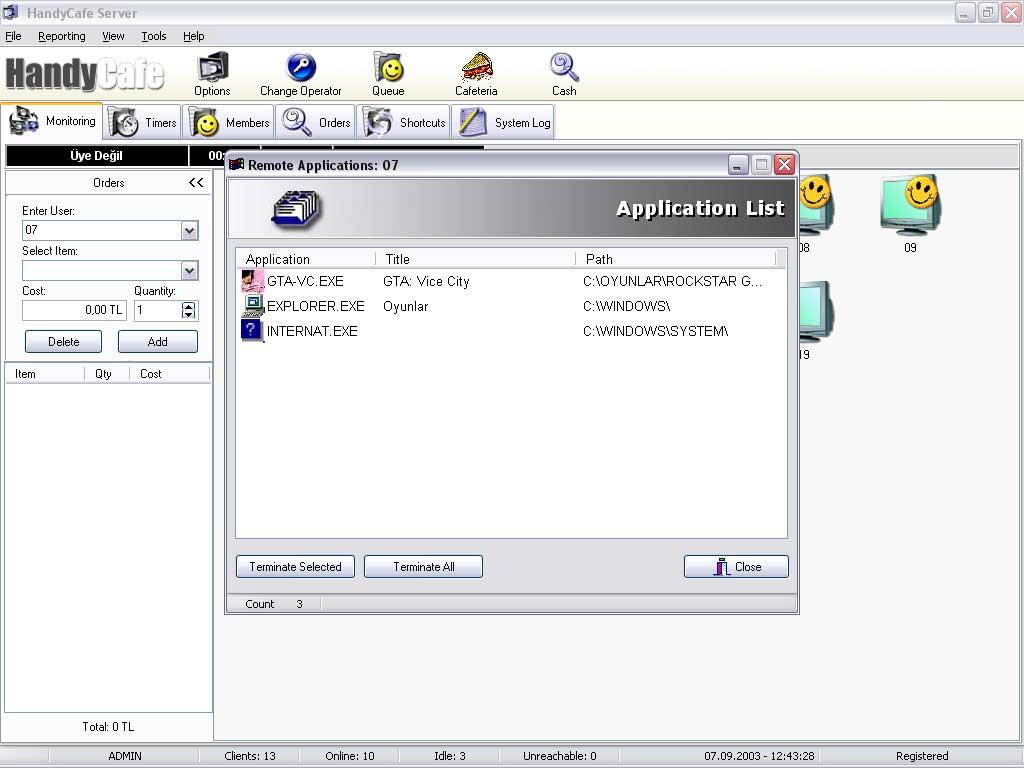 Handycafe Internet Cafe Software